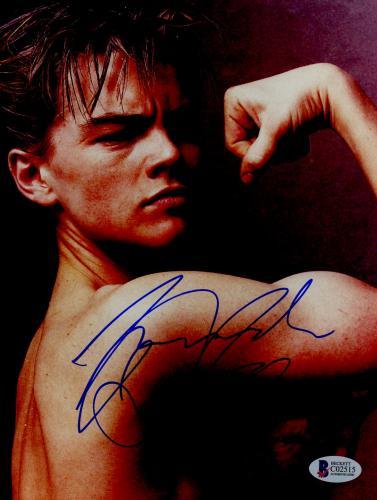 "Leonardo DiCaprio Autographed 8""x 10"" Muscle Photograph With Vintage Full Autograph - BAS COA"