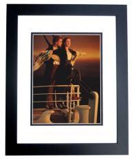 Leonardo Dicaprio Autographed 8x10 TITANIC Photo BLACK CUSTOM FRAME