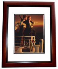 Leonardo Dicaprio Autographed 8x10 TITANIC Photo MAHOGANY CUSTOM FRAME
