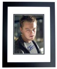 Leonardo DiCaprio Autographed THE DEPARTED 8x10 Photo BLACK CUSTOM FRAME