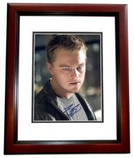 Leonardo DiCaprio Autographed THE DEPARTED 8x10 Photo MAHOGANY CUSTOM FRAME