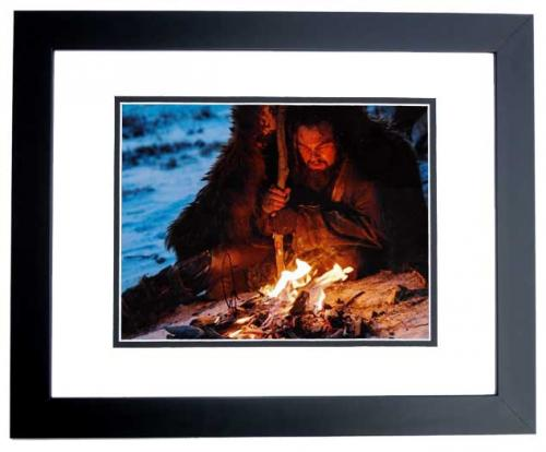 Leonardo DiCaprio Signed - Autographed The Revenant 8x10 inch Photo BLACK CUSTOM FRAME - Guaranteed to pass PSA or JSA - Best Actor Academy Award Winner