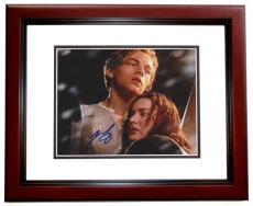Leonardo Dicaprio Autographed TITANIC 8x10 Photo MAHOGANY CUSTOM FRAME