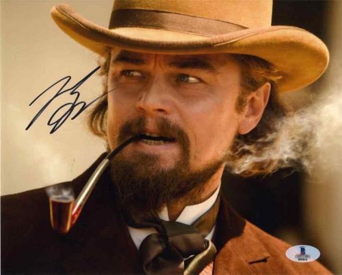 Leonardo DiCaprio Django Autographed Signed 8x10 Photo Beckett BAS COA