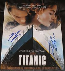 Leonardo Dicaprio James Cameron Signed 11x14 Photo Titanic Autograph Coa A