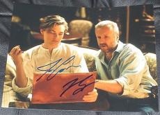 Leonardo Dicaprio James Cameron Signed 11x14 Photo Titanic Autograph Coa B