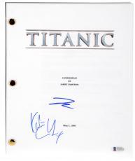 Leonardo DiCaprio & Kate Winslet Autographed Titanic Replica Movie Script - BAS COA