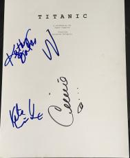 "Leonardo Dicaprio & Kate Winslet Cast Signed Autograph ""titanic"" Movie Script X4"