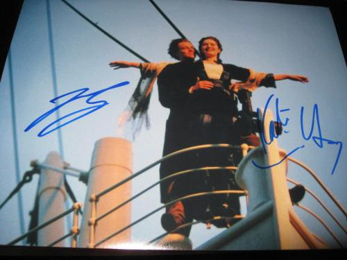 LEONARDO DICAPRIO KATE WINSLET SIGNED AUTOGRAPH 11x14 PHOTO TITANTIC ACTION SHOT