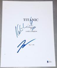 "Leonardo Dicaprio & Kate Winslet Signed Autograph ""titanic"" Movie Script Beckett"