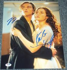 "Leonardo Dicaprio & Kate Winslet Signed New ""titanic"" 11x14 Photo Psa/dna V04595"