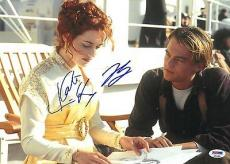 Leonardo DiCaprio & Kate Winslet Signed Titanic 10x14 Photo PSA/DNA #Q53305