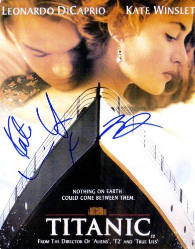 Leonardo Dicaprio Kate Winslet Signed Titanic 11x14 Poster Photo UACC RD AFTAL T