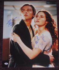 LEONARDO DiCAPRIO & KATE WINSLET Signed TITANIC 16x20 PHOTO w/ PSA LOA GRADED 10