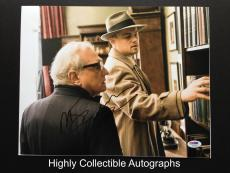 Leonardo Dicaprio & Martin Scorsese Signed 11x14 Photo Autograph Psa Dna Coa
