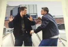 LEONARDO DICAPRIO & MATT DAMON DUAL SIGNED 11x14 PHOTO THE DEPARTED PSA/DNA COA