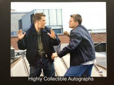 Leonardo Dicaprio & Matt Damon Signed 11x14 Photo The Departed Cast Psa Dna Coa