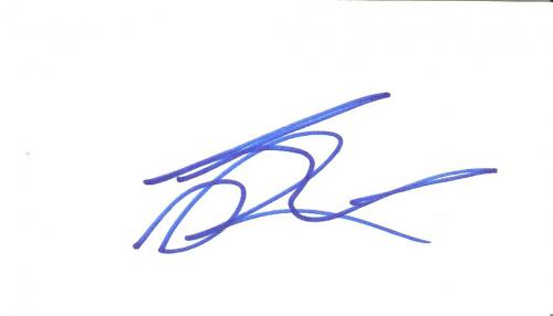 "LEONARDO DICAPRIO (MOVIE ACTOR) Movies Include ""THE AVIATOR"", ""CATCH ME IF YOU CAN"", and ""TITANTIC"" Signed 5x3 Index Card"