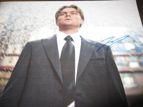 LEONARDO DICAPRIO SIGNED AUTOGRAPH 11x14 PHOTO INCEPTION PROMO RARE IN PERSON E