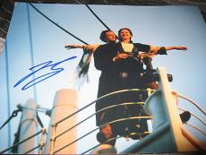 LEONARDO DICAPRIO SIGNED AUTOGRAPH 11x14 PHOTO TITANIC PROMO IN PERSON NY B
