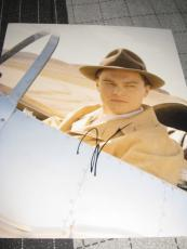 LEONARDO DICAPRIO SIGNED AUTOGRAPH 8x10 PHOTO AVIATOR PROMO IN PERSON COA RARE B