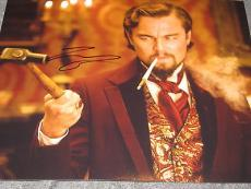 LEONARDO DICAPRIO SIGNED AUTOGRAPH 8x10 PHOTO DJANGO PROMO IN PERSON COA RARE J