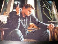 LEONARDO DICAPRIO SIGNED AUTOGRAPH 8x10 PHOTO INCEPTION PROMO IN PERSON COA X1