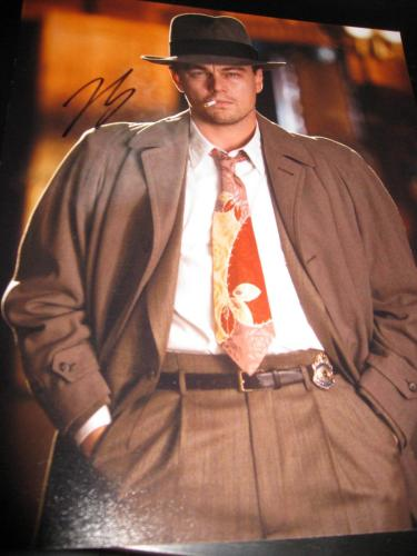 LEONARDO DICAPRIO SIGNED AUTOGRAPH 8x10 PHOTO THE DEPARTED PROMO IN PERSON COA D