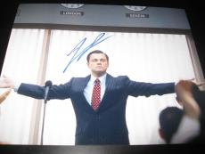 LEONARDO DICAPRIO SIGNED AUTOGRAPH 8x10 PHOTO THE WOLF OF WALL STREET IN PERSON