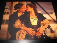 LEONARDO DICAPRIO SIGNED AUTOGRAPH 8x10 PHOTO TITANIC PROMO WINSLET IN PERSON D