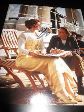 LEONARDO DICAPRIO SIGNED AUTOGRAPH 8x10 PHOTO TITANIC PROMO WINSLET IN PERSON E