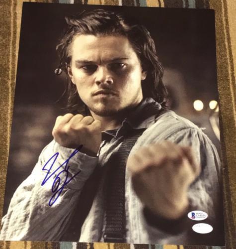"""Leonardo Dicaprio Signed Autograph """"gangs Of New York"""" Battle 11x14 Photo Bas"""
