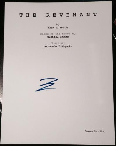 "Leonardo Dicaprio Signed Autograph ""the Revenant"" Complete Movie Script W/ Coa"
