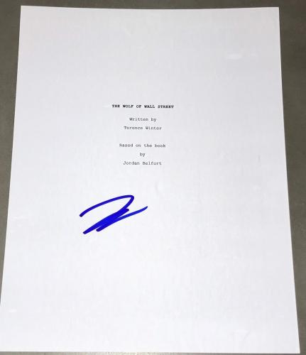 "Leonardo Dicaprio Signed Autograph ""wolf Of Wall Street"" Full Movie Script Coa"