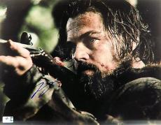 Leonardo DiCaprio Signed Autographed 11X14 Photo The Revenant Holding Gun 796741