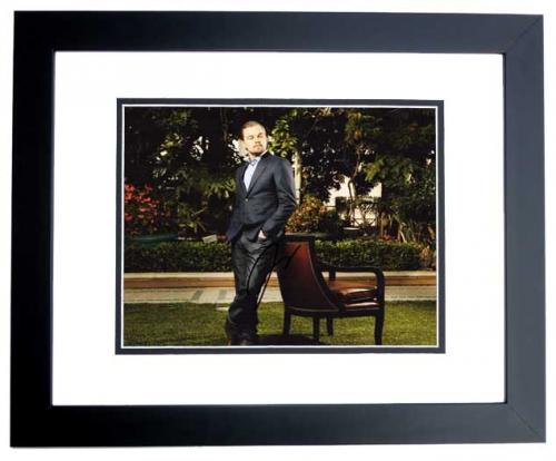 Leonardo DiCaprio Signed - Autographed Sexy Actor, Producer, Activist 8x10 inch Photo BLACK CUSTOM FRAME - Guaranteed to pass PSA or JSA - Best Actor Academy Award Winner
