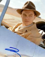 Leonardo Dicaprio Signed Autographed 8x10 Pilot Photo AFTAL