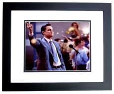 Leonardo DiCaprio Signed - Autographed The Wolf of Wall Street 8x10 inch Photo BLACK CUSTOM FRAME - Guaranteed to pass PSA or JSA