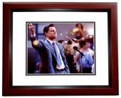 Leonardo DiCaprio Signed - Autographed The Wolf of Wall Street 8x10 inch Photo MAHOGANY CUSTOM FRAME - Guaranteed to pass PSA or JSA