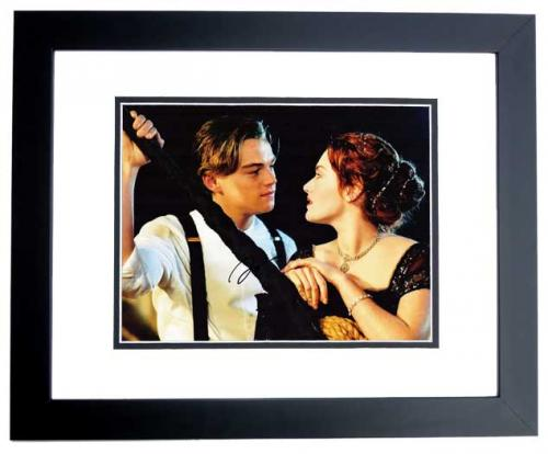 Leonardo DiCaprio Signed - Autographed TITANIC 11x14 inch Photo BLACK CUSTOM FRAME - Guaranteed to pass PSA or JSA