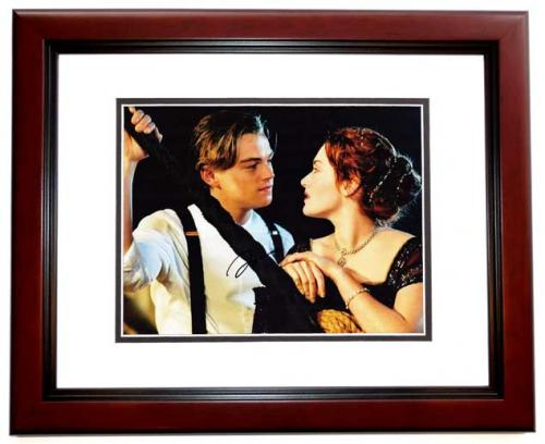 Leonardo DiCaprio Signed - Autographed TITANIC 11x14 inch Photo MAHOGANY CUSTOM FRAME - Guaranteed to pass PSA or JSA