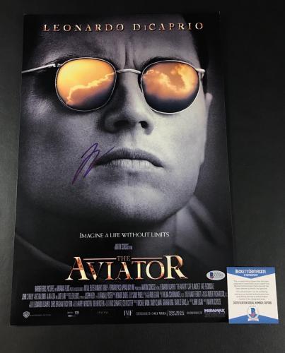 Leonardo Dicaprio Signed Aviator 12x18 Photo Authentic Autograph Beckett Coa