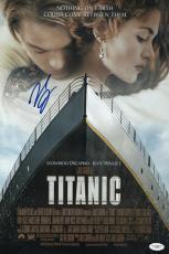 Leonardo Dicaprio Signed Titanic 11 1/2 X 17 Movie Poster Jsa Coa E76890