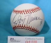 LEROY NEIMAN 94 JSA COA HAND SIGNeD NATIONAL LEAGUE AUTOGRAPH BASEBALL