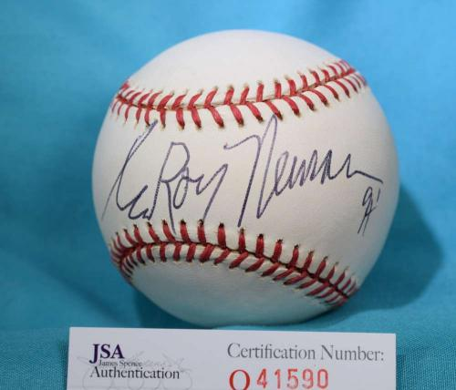 LEROY NEIMAN 94 JSA COA HAND SIGNeD NATIONAL LEAGUE AUTOGRAPH BASEBALL