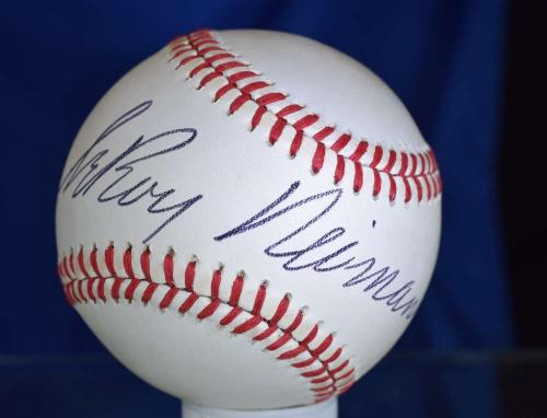Leroy Neiman Bas Beckett Hand Signed National League Autograph Baseball