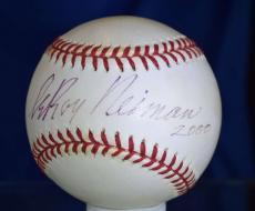 Leroy Neiman Bas Beckett Signed 2000 World Series Autograph Baseball