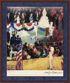 """LEROY NEIMAN d.2012 signed/framed """"The Presidents Birthday"""" print -JSA COA"""