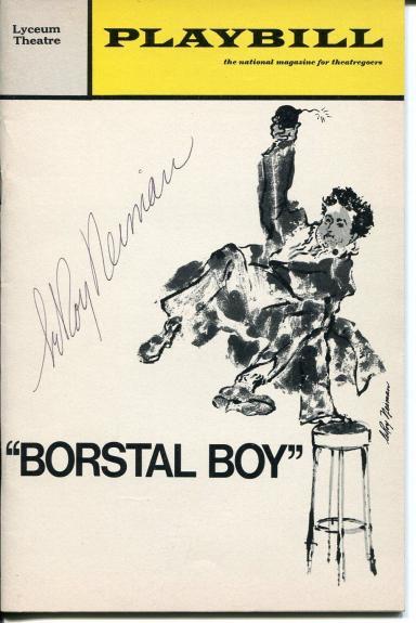 LeRoy Neiman Famous Artist Rare Borstal Boy Signed Broadway Autograph Playbill