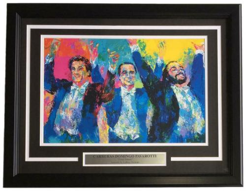 Leroy Neiman Framed 17x11 Three Tenors Carreras Domingo Pavarotti Art Print